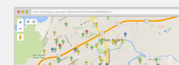 BatchGeo Create An Interactive Map From Your Data - Us zip code boundroes google maps