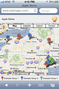 IPhone and Android users will have no trouble using your maps